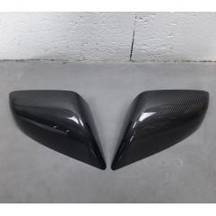 Coques de rétroviseur en véritable Carbone Model S